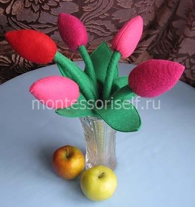Мягкая игрушка букет тюльпанов