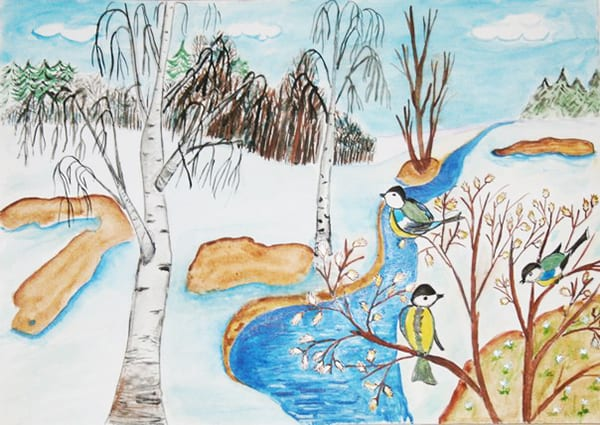 "Рисунок ""Ранняя весна в лесу"""