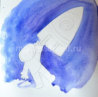 Заполняем все пространство синим цветом