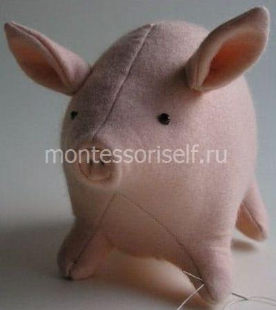 Свинья из ткани своими руками