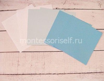 Выбираем размер и цвет бумажных листов
