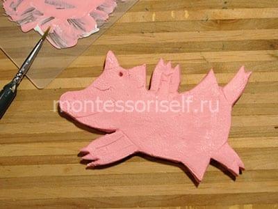 Раскрашиваем свинку