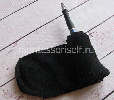 Наматываем носки на ручку
