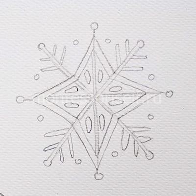 Узоры внутри звезды