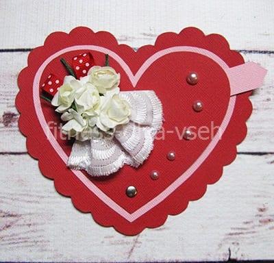 Валентинка открытка своими руками