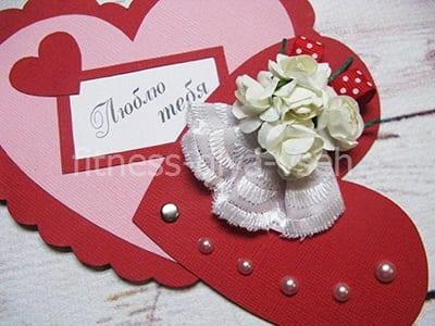 Валентинка открытка из бумаги