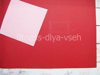 Трафареты из красной бумаги