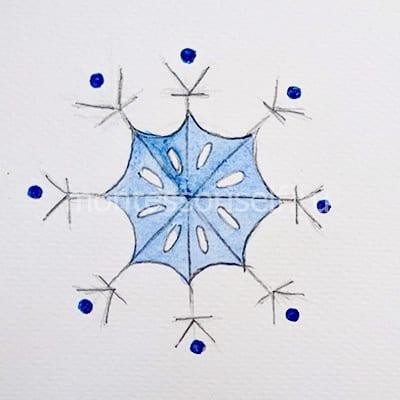 Раскрашиваем внутреннюю часть снежинки