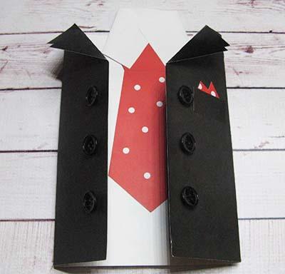 Открытка рубашка с галстуком на 23 февраля
