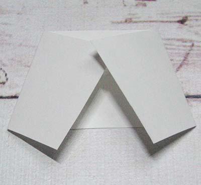 Складываем белый прямоугольник