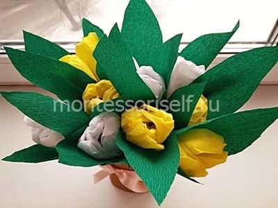 Букет тюльпанов (вид сверху)
