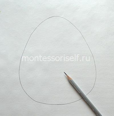 Рисуем яичко