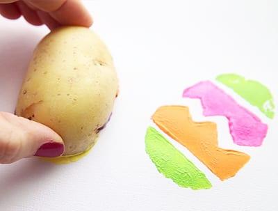 Делаем отпечатки картошкой