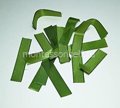 15 полосок зеленой ленты