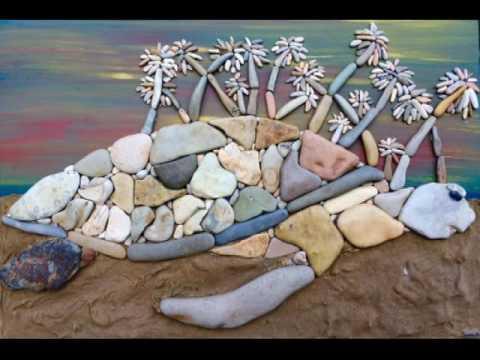 Замечательные картины из камней, найденных на побережье