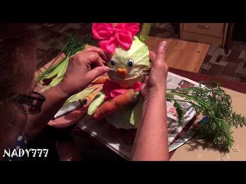 """Рубрика""""Сделай сам"""" осенняя поделка из овощей - зайка"""