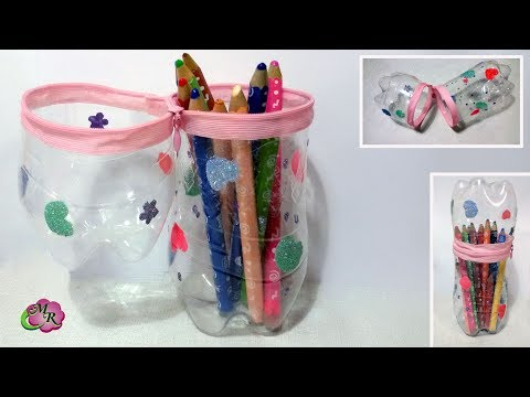 DIY Пенал из пластиковой бутылки. Легко и быстро/DIY Pencil case made of plastic bottle