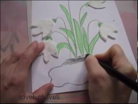 DIY:ПОДСНЕЖНИКИ из ВАТНЫХ ДИСКОВ.8 Марта.Поделки с детьми\crafts with kids