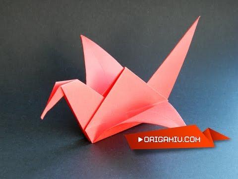 Paper shadoof - Origami - Журавлик из бумаги