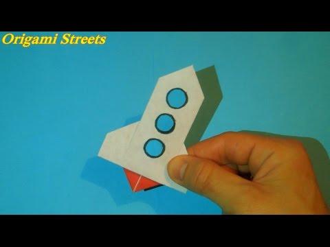 Как сделать ракету из бумаги. Оригами Ракета