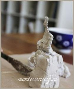 глина держит форму