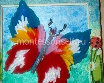 Бабочка из трубочек