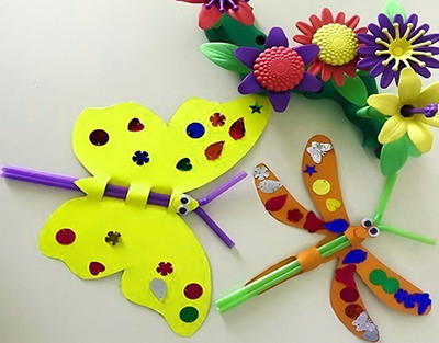 Бабочки из бумаги и трубочек