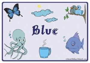 Синий цвет на английском с картинками