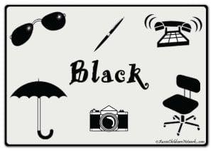 Черный цвет на английском с картинками