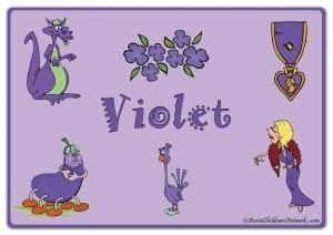 Фиолетовый цвет на английском с картинками 1