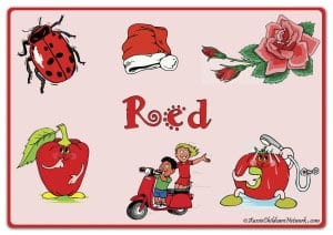 Красный цвет на английском с картинками