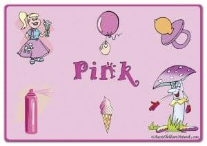 Розовый цвет на английском с картинками