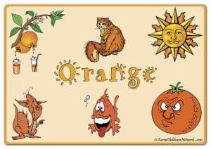 Оранжевый цвет на английском с картинками