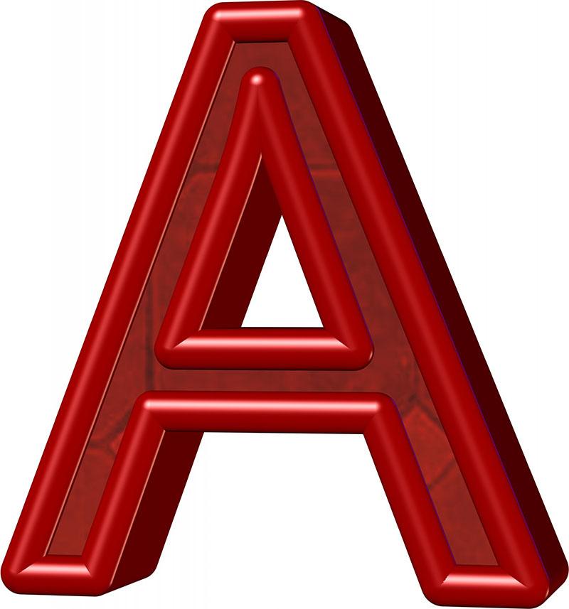 """Бордовая буква """"А"""""""