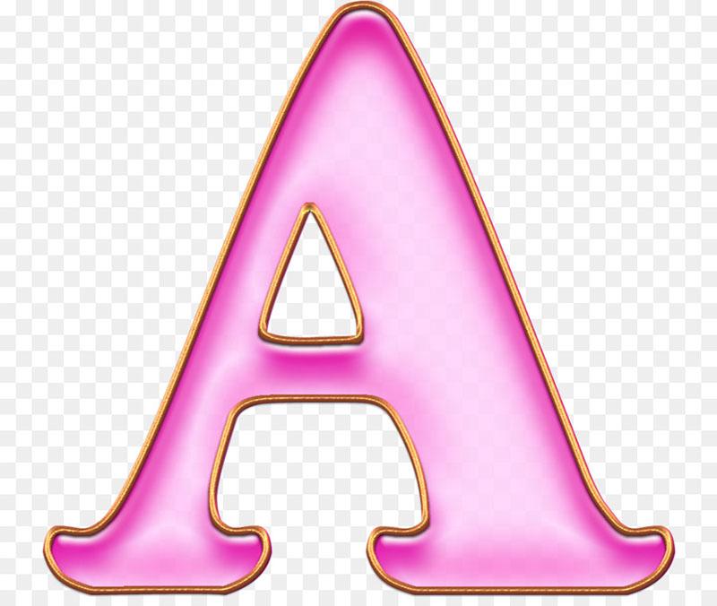 "Розовая буква ""А"""