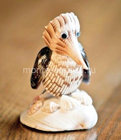 Птичка из ракушки