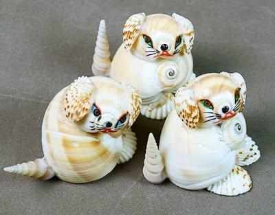 Кошечки из ракушек