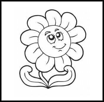 Раскраска веселый цветок