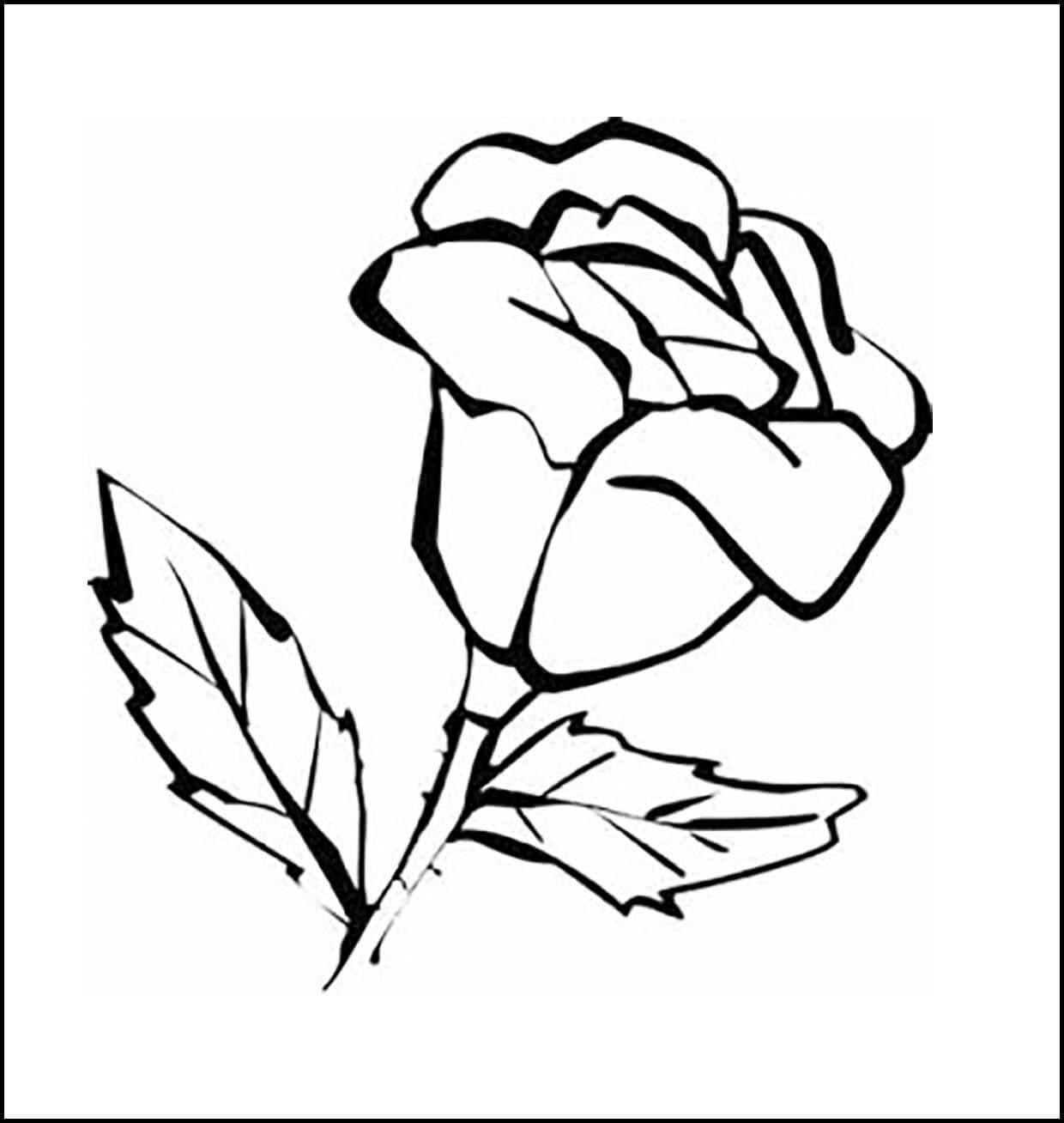 Раскраска розочка для мамы