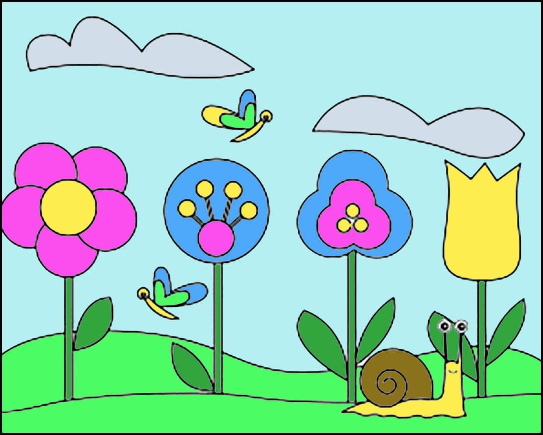 Картинка весенний луг