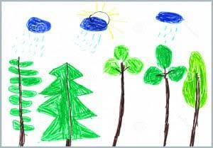 рисунок лето 1