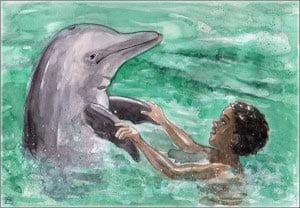 рисунок дельфин