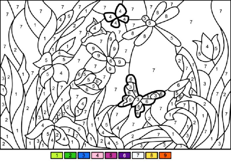 """Раскраска """"Волшебный сад с бабочками"""""""