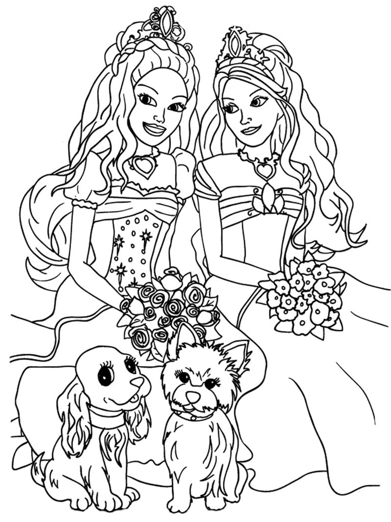"Раскраска ""принцессы"""
