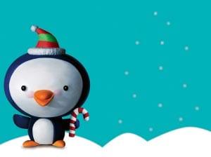 рождественский пингвин картинка