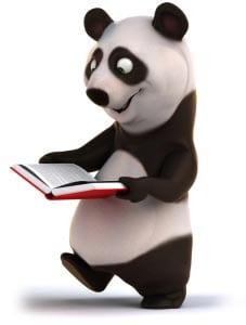 панда с книгой