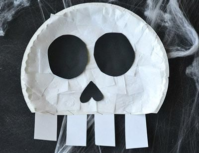 Skull from a disposable plate