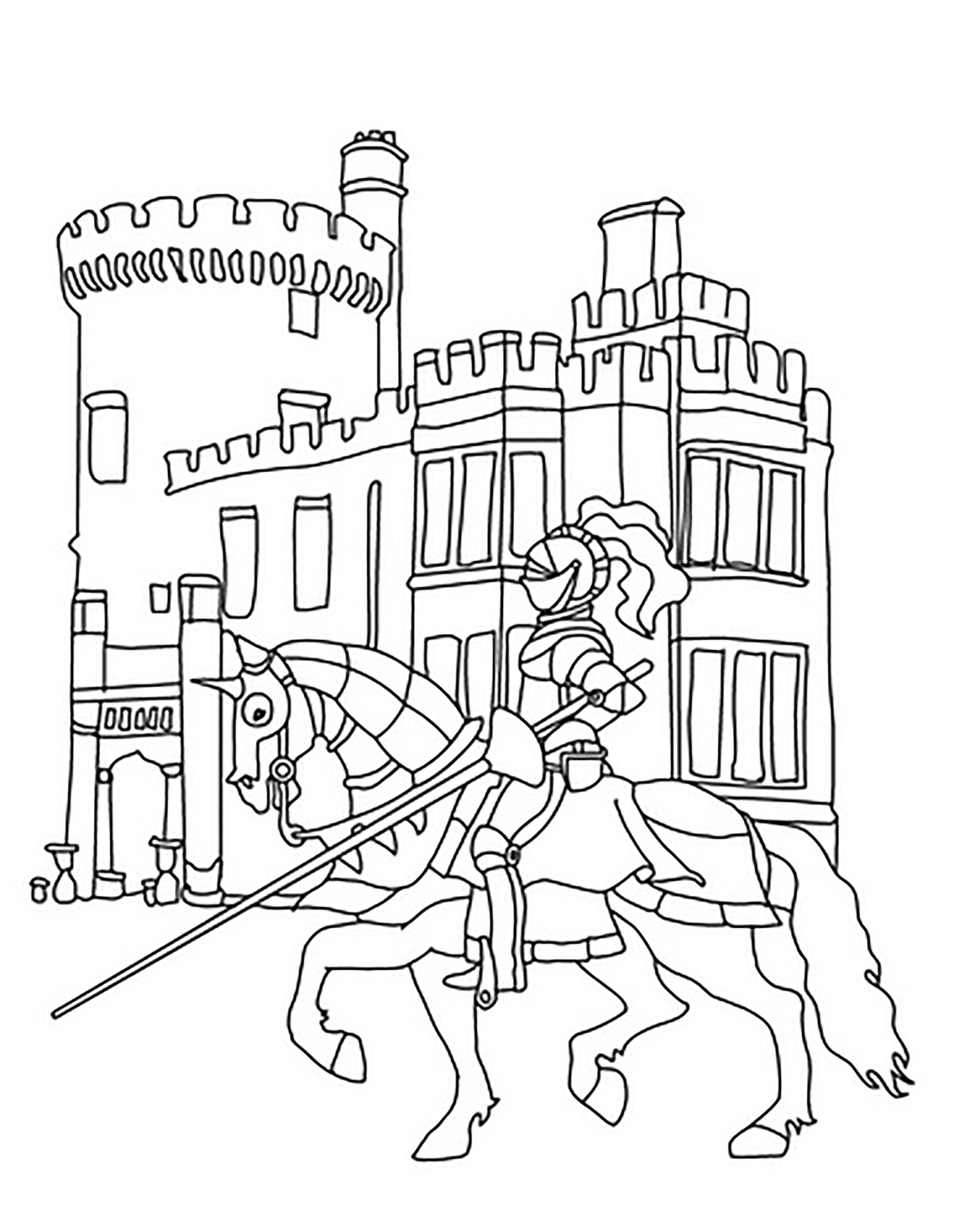 замок с рыцарем