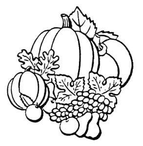 Осенний урожай с тыквой