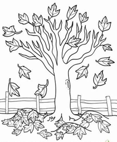 """Раскраска """"осеннее дерево"""""""